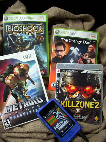 BioshockOrangeBoxMetroid3Killzone2