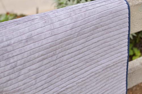 chevron minky quilt back