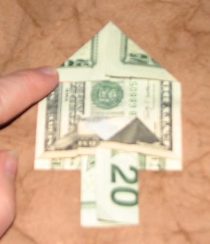 origami Money Christmas Tree 012