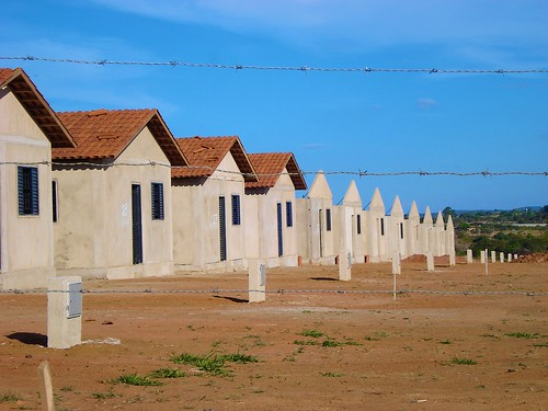 Real Conquista Project, Goiânia, Brazil. Over 2,500 houses have been built to date. These are some of the newer houses that have not yet been completed and handed over to families. They consist of two bedrooms, a bathroom, and a kitchen/living room