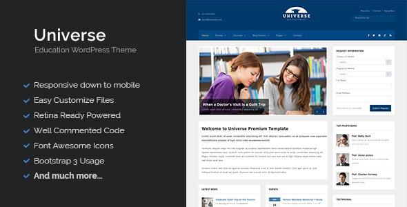 Universe v1.7 - Education Responsive WordPress Theme