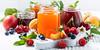 assortment of sweet jams and seasonal fruits
