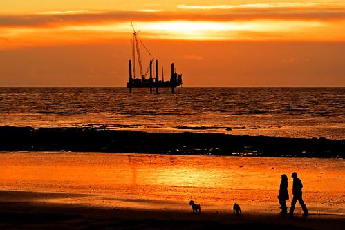 sea silhouette coast douglas barge isleofman excalibur suneise