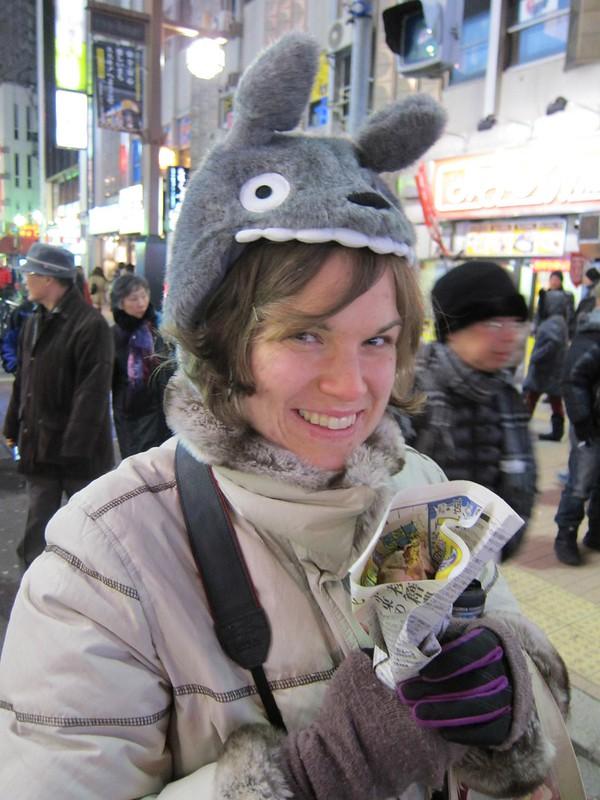 Kate holding a yaki imo