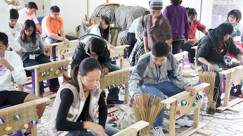 輪繖草編織DIY教育(圖片來源:林務局)