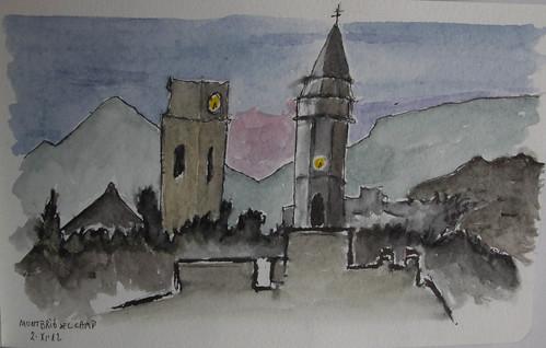 Torres con reloj - Panorámica Montbrió del Camp