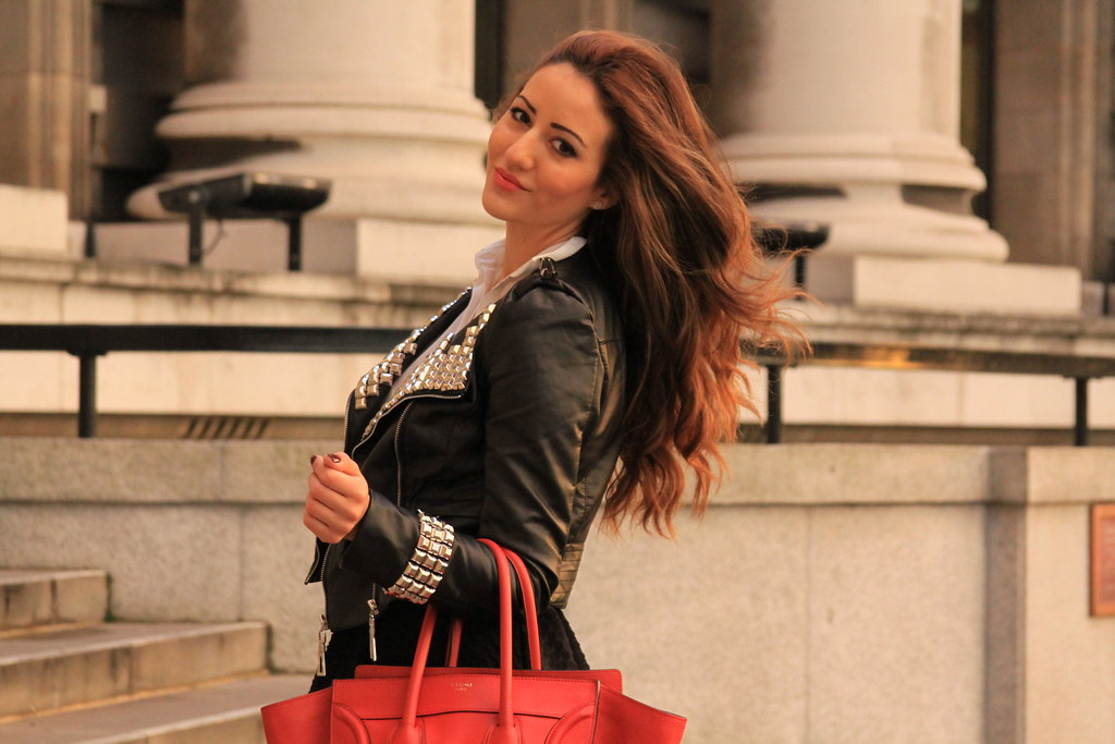 london, made in chelsea, fashion, celine, leather jacket