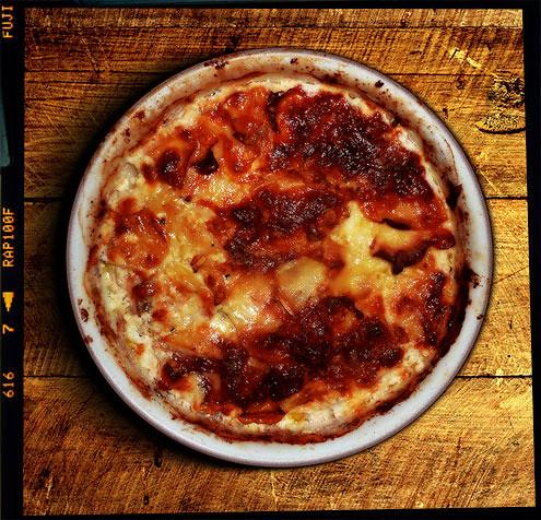 Kohlrabi & potato gratin
