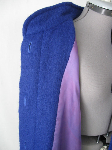 Blue coat inside front