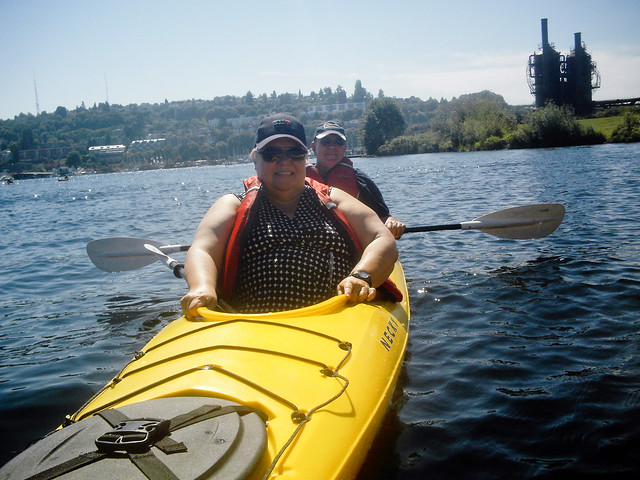 Mom and Dad, kayaking