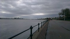 Liverpool from Vale Park Promenade Gates: Copyright 13th November, 2012 Kevin & Jane Moor