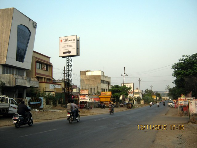 Signage of SKYi Songbirds at Bhugaon on Paud Road Pune