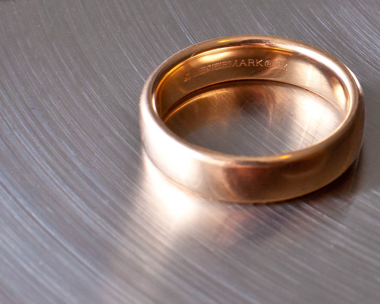 Rose Gold Band Diamond Engagement Ring