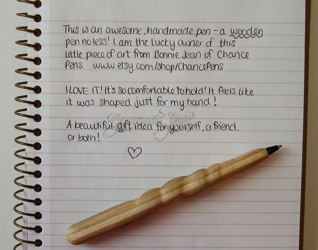 ChancePens Wooden Ballpoint Pen Writing Sample