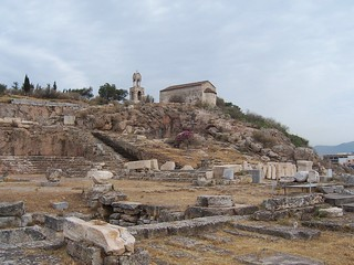 General view of sanctuary of Demeter and Kore and the Telesterion (Initiation Hall), center for the Eleusinian Mysteries, Eleusis