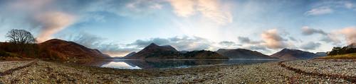 autumn lake sunrise reflections landscape scotland highlands scenery seasonal shoreline earlymorning shore glencoe autumnal fortwilliam ballachulish kinlochleven snowcappedmountains lochleven canon1740f4 lochside argyllandbute stitchedpanorama canon5dmk3 markmullenphotography