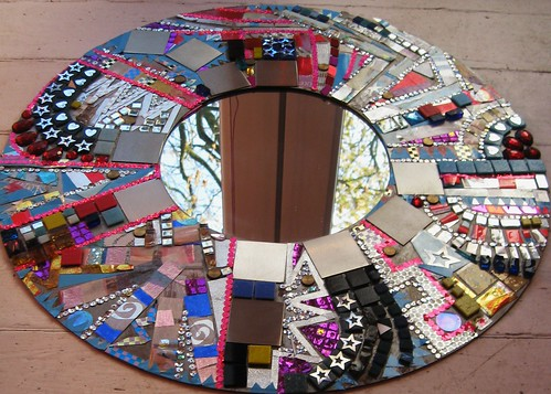 Mixed Media steel mirror