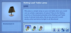 Rolling Leaf Table Lamp