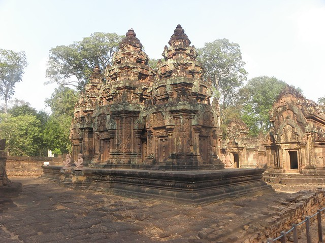 Siem Reap: The Angkor Temples, Cambodia. The beautiful Banteay Srei