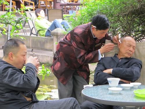 Maison de thé en plain air à Chengdu