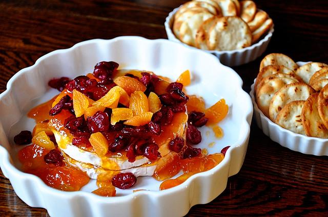 cranberry apricot brie