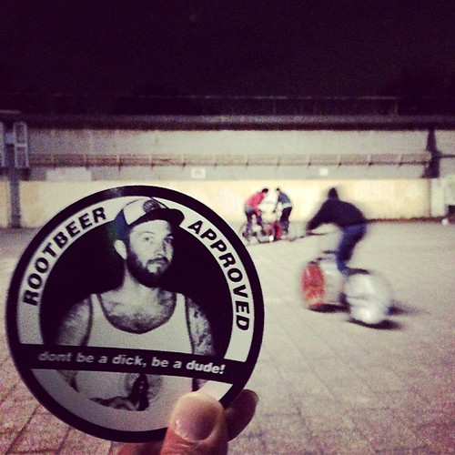 One more... ROOTBEER APPROVED TOKYO BIKE POLO! #rootbeerapproved