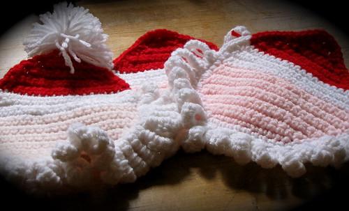 Crochet Santa Mug Rug