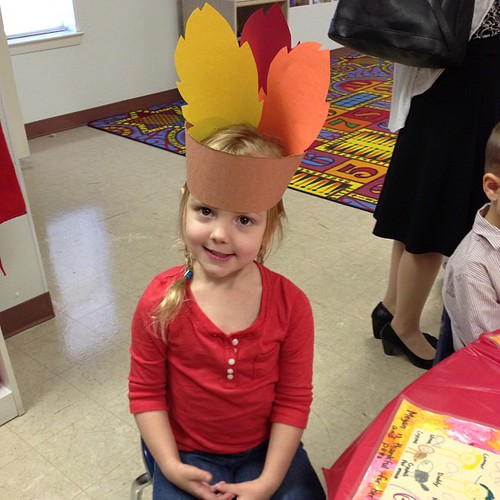 326:365 Preschool Thanksgiving presentation & feast.