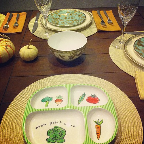Place setting for someone I'm most thankful for... #cheeseball #thanksgiving