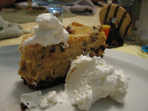 pumpkin chocolate chip cheesecake