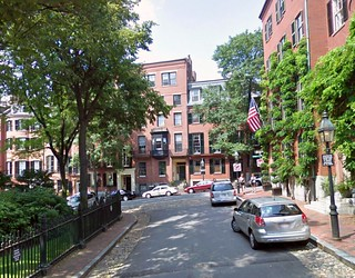 Boston's Louisburg Square (via Google Maps & Placeshakers)