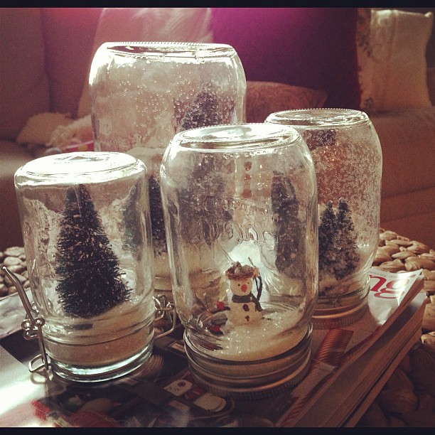 Got a little crafty late last night making snowglobes