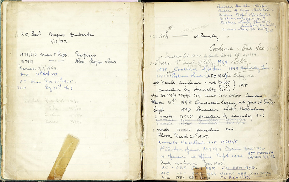 2 - A page of notes relating to Cochrane's history | Flickr