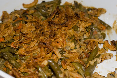 Vegan Green Bean Cassarole with French Fried Onion…