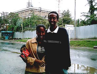Almaz (left) and Yonas (right) are two young Eritreans in Ethiopia. Both said they long to contact their  relatives in their home country, but it is illegal to do so.