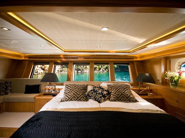 Salma Hayek Charters Daima Yacht