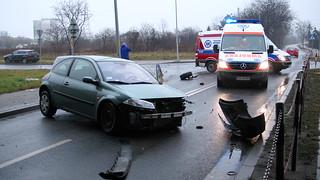 Rozbite auto we Wrocławiu