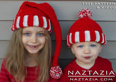 Santa Hat Crochet Ornament | AllFreeCrochet.com