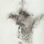 Karen Poulson - Shadow 1; Dry pigment on paper; 2012; Photograph by Ken Sanville
