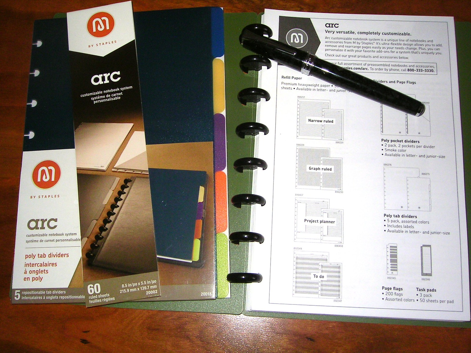 arc customizable notebook system from staples an inkophile s blog