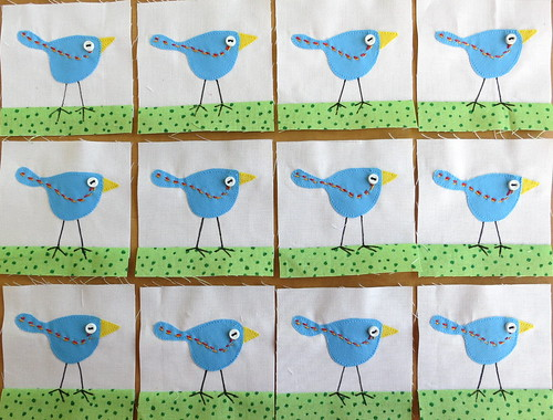Birds - Dec bitty block Group 2