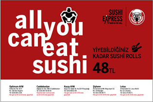 all you can eat sushi rolls