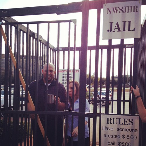 We put the #brickhouse #mangers in #jail for #charity LMAO!!
