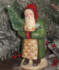 Chalkware German Santa with Pineapple