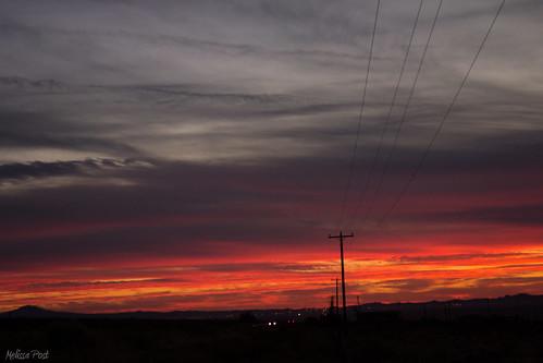 light sunset red arizona cloud color nature car landscape route66 power az line pole headlight taillight kingman