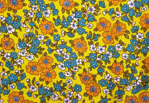 vintage yellow floral fabric