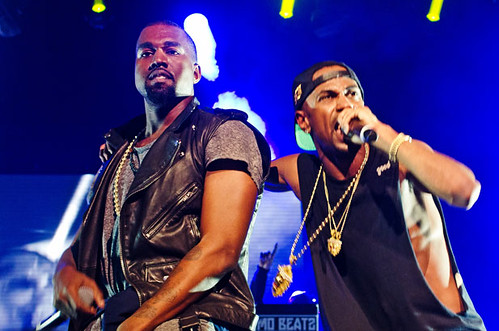 Big Sean and Kanye West in concert at The Palace of Auburn Hills, 12/01/12