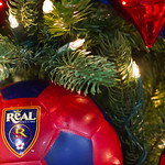 Real Salt Lake Christmas Tree Ornaments