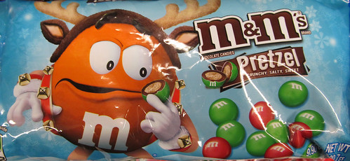 Christmas M&M Pretzel Packaging