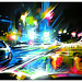 'Night City' - original painting on canvas by Dan Kitchener - DANK